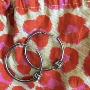 Brighton hoop earrings with bling